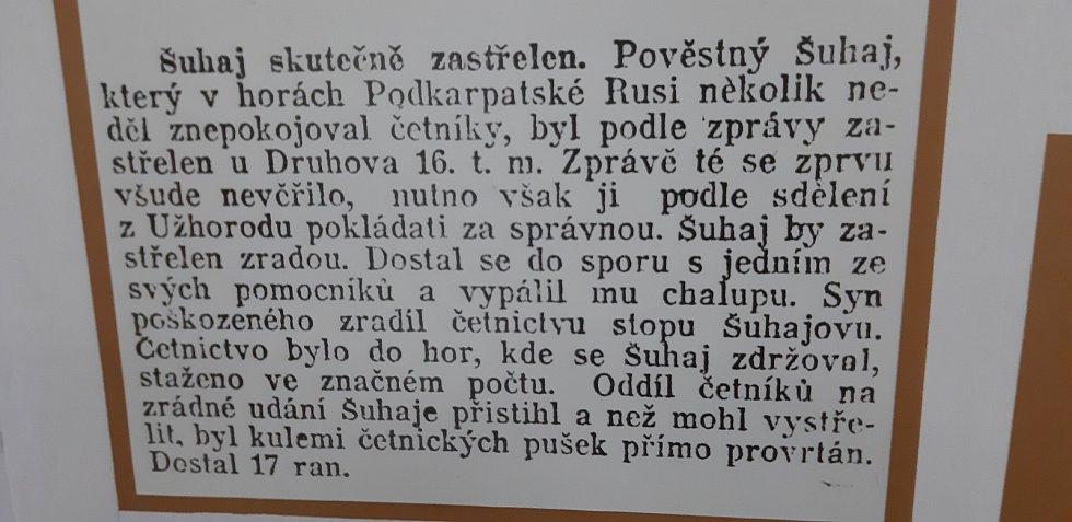 Turisté z Ostrožské Lhoty v Koločavě, v kraji Nikoly Šuhaje na Zakarpatské Ukrajině.