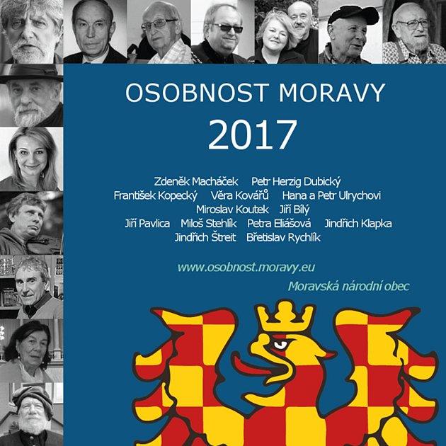 Třináct osobností se uchází o přízeň hlasujících v anketě Osobnost Moravy 2017.