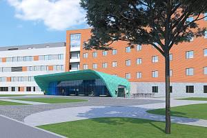 Uherskohradišťská nemocnice bude mít nový vstup do centrální budovy.