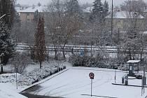 První sníh roku 2020 přikryl Uherské Hradiště ze soboty na neděli 18. ledna.