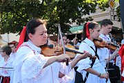 Tisíce krojovaných prošly Uherským Hradištěm.