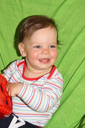 MILOŠEK STRAKA. Miloškův úsměv je pro jeho prarodiče nejkrásnější.