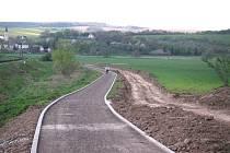 Cyklostezka která v budoucnu spojí Uherský Brod a Šumice.