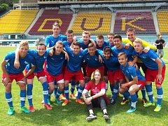 Fotbalový tým Střední odborné školy a Gymnázia ve Starém Městě, když ovládl celorepublikovou soutěž středních škol ve fotbale – Pohár Josefa Masopusta.