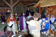 Živý betlém v Bystřici pod Lopeníkem