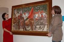 Sbírku obrazů v Galerii Joži Uprky v Uherském Hradišti doplnil také obraz Sedlácká svatba.