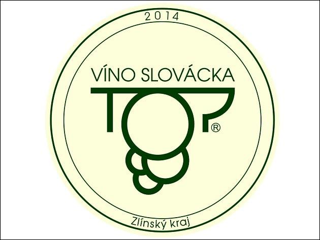 Logo TOP Víno Slovácka 2014.