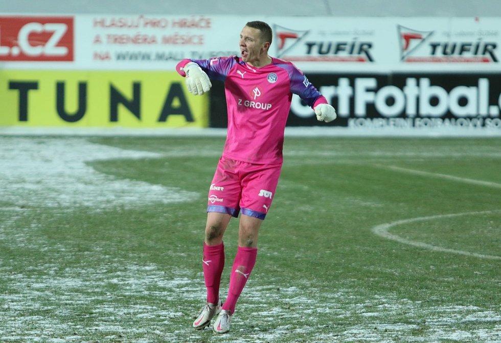 Brankář fotbalistů Slovácka Vít Nemrava. Foto: Jan Zahnaš
