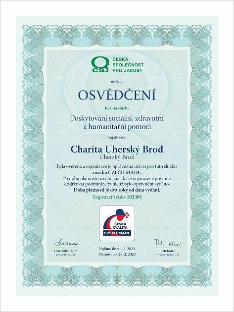 CZECH MADE Certifikát