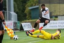 Fotbalisté Uherského Brodu prohráli na hřišti slovenské Myjavy 0:2