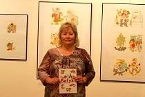 Milena Zhořová z Brna se stala tisící návštěvnicí výstavy ilustrací Heleny Zmatlíkové v Uherském Hradišti.