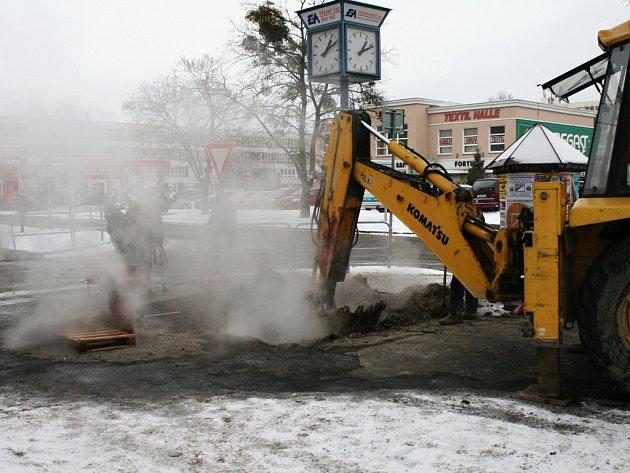 Havárie vodovodního potrubí. Ilustrační foto.