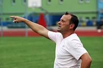 Trenér fotbalistů Spartaku Hluk Jiří Vojtěšek.