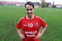 Fotbalisté Bojkovic budou i v příští sezoně spoléhat na záložníka Vojtěcha Dolinu.
