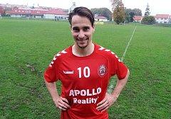 Sedmadvacetiletý záložník Uherského Brodu Vojtěch Dolina se na domácí výhře nad poslední Mohelnicí 2:0 podílel jedním gólem.
