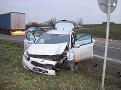 Po srážce dvou osobních aut u Uherského Brodu skončily dvě ženy v nemocnici
