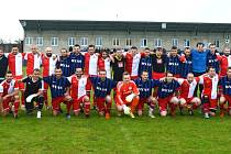 Na závěr sportovního dne se A-tým mužů Uherského Ostrohu střetl s internacionály Slovácké Slávie Uherské Hradiště.
