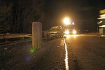 Hromadná dopravní nehoda mezi O. N. Vsí a Kunovicemi.