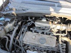 Vznícení auta u Maršova