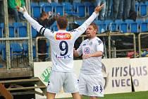 Petr Švancara a Václav Ondřejka, 1. FC Slovácko. Ilustrační foto.