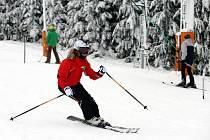 Lyžařské středisko na Stupavě.První lyžování.
