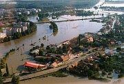 Povodně v Uh. Hradišti a Starém Městě v létě 1997.