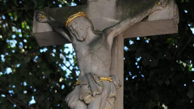 Kamenný kříž ve Zlechově.