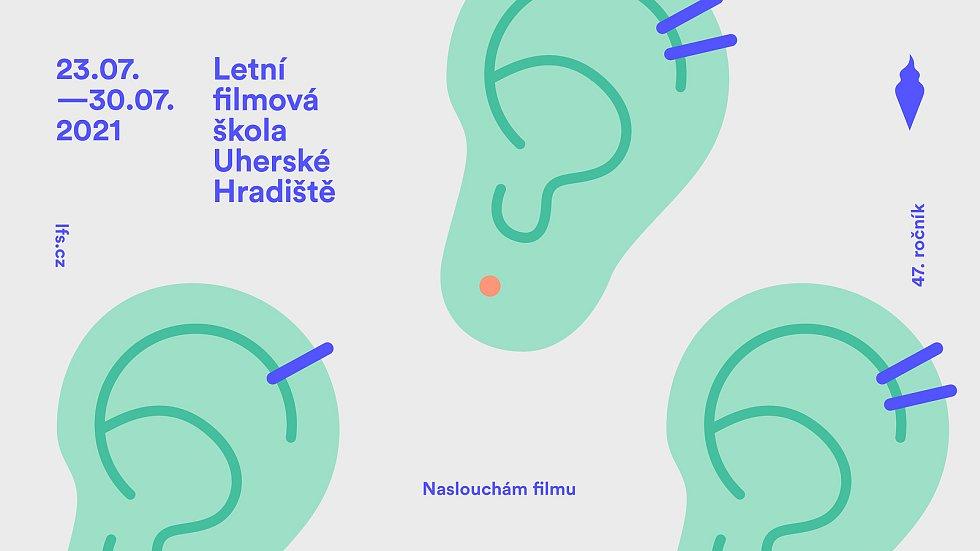 Vizuál 47. ročníku Letní filmové školy v Uherském Hradišti.