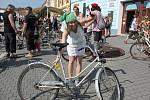 Každý účastník si vyzdobil svůj bicykl po svém.