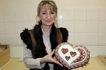 Čtyřiačtyřicetiletá perníkářka Irena Burdová z Jalubí.
