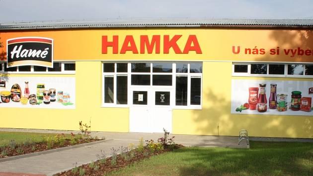 Podniková prodejna stojí v areálu kunovického sídla firmy Hamé.