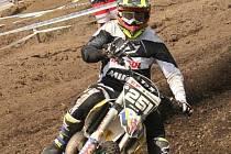 Patnáctiletý motokrosař ze Strání Petr Kolaja.