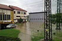 Rozvodná stanice E-on v Uherském Brodě.