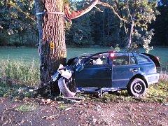 Tragická dopravní nehoda se stala ve středu 20. září mezi Bojkovicemi a Přečkovicemi.