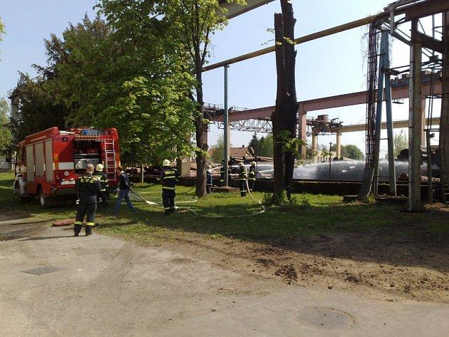 Plánované cvičení hasičů vDyas EU Uherský Ostroh .