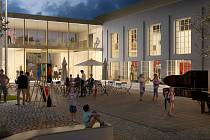 Vizualizace nové podoby kulturního domu ve Strání - Květné.