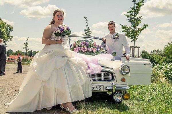 Soutěžní svatební pár číslo 149 - Lucie a Robert Šubertovi, Dluhonice.