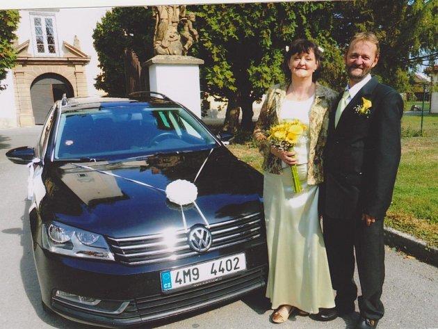 Soutěžní svatební pár číslo 173 - Pavlína a Franta Švarcovi, Dřevohostice
