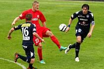 Fotbalové utkání mezi domácím týmem FC Zbrojovka Brno a Slováckem.