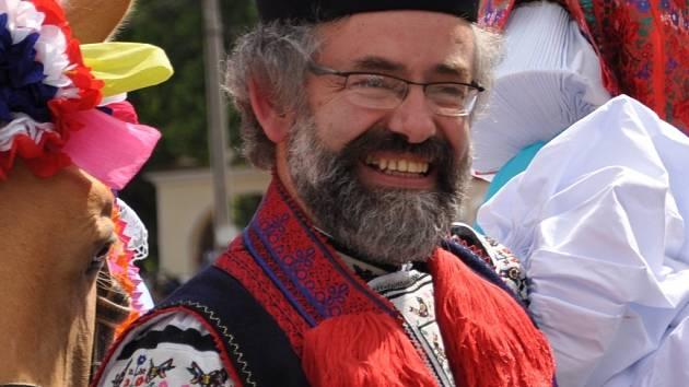 Jan Pijáček při jízdě králů.