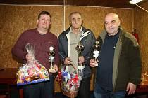 Trio nejlepších – zleva druhý Kamil Marek, vítězný Jaroslav Buchta a třetí Ladislav Dufek.
