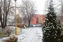 První sníh zasypal ve čtvrtek 30. listopadu Uherské Hradiště