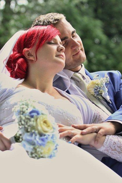Soutěžní svatební pár číslo 55 - Anna a Pavel Sokolovi, Prusinovice