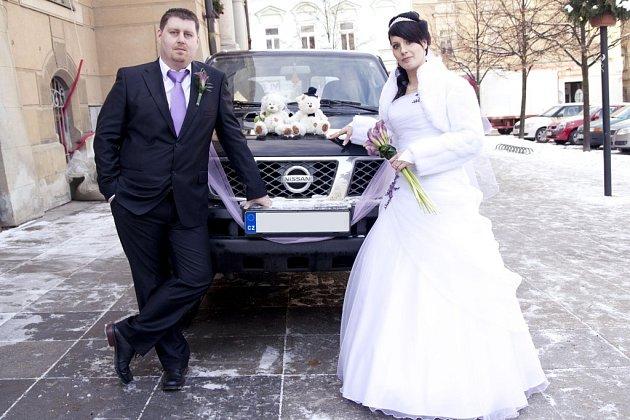 Soutěžní svatební pár číslo 63 - Lenka a Milan Mieszczykovi, Rapotín.