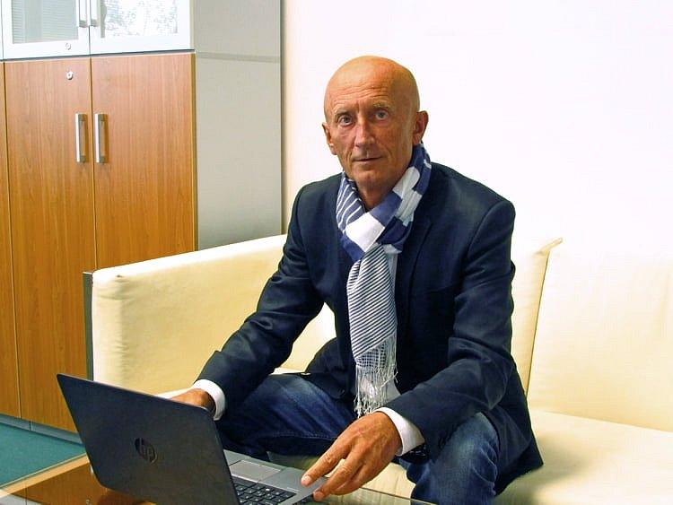 Ivo Valenta během on-line rozhovoru
