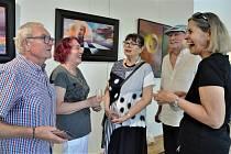 Výstava obrazů Vlastimila Mahdala v Galerii obce Ostrožská nová Ves.