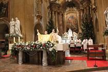 Půlnoční mše svatá 24. prosince 2019 se nesla na tónech věhlasné České mše vánoční od Jakuba Jana Ryby v podání velehradského chrámového sboru, sboru Svatopluk a za doprovodu orchestru.