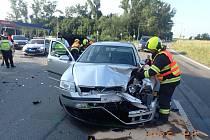 Nehoda dvou osobních aut. Ilustrační fotografie