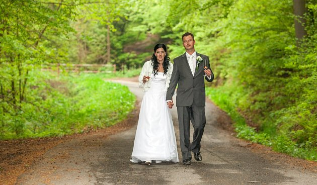 Soutěžní svatební pár číslo 168 - Michaela a Tomáš Skrývalovi, Vsetín.