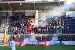 Příchod fanoušků Zlína na stadion Slovácka